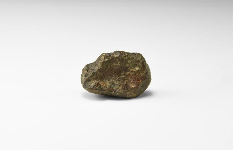Natural History - Meteorite with Ablation Crust.