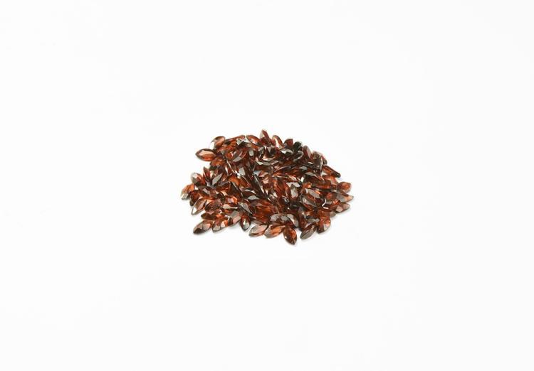 Natural History - 72.5 Carats of Garnet Marquise-Cut Gemstones.