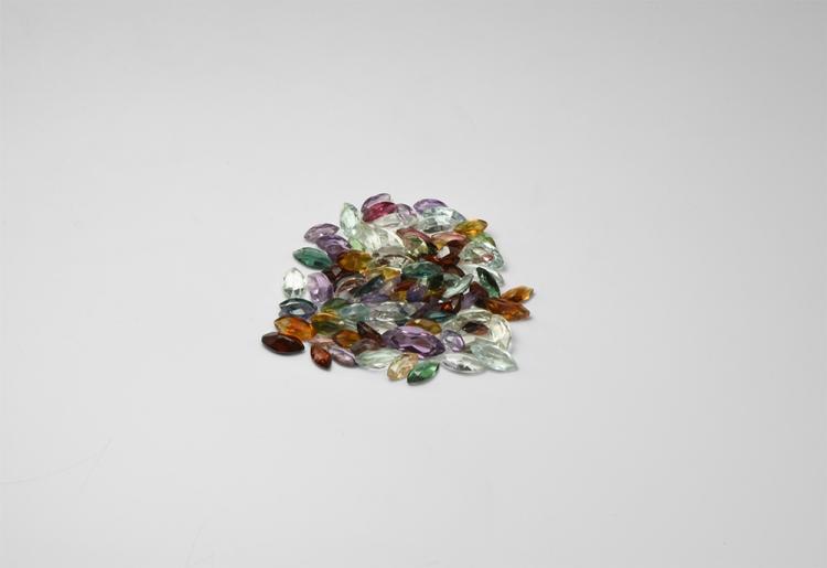 Natural History - 70 Carats of Mixed Marquise-Cut Gemstones.