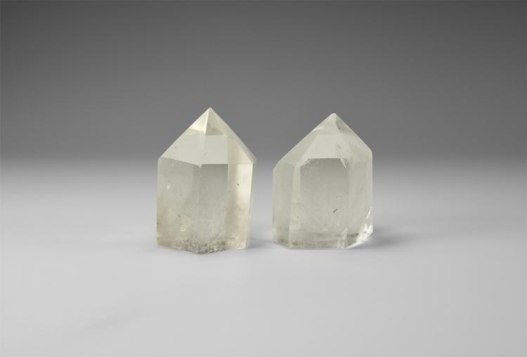 Natural History - Large Polished Quartz Point Pair.