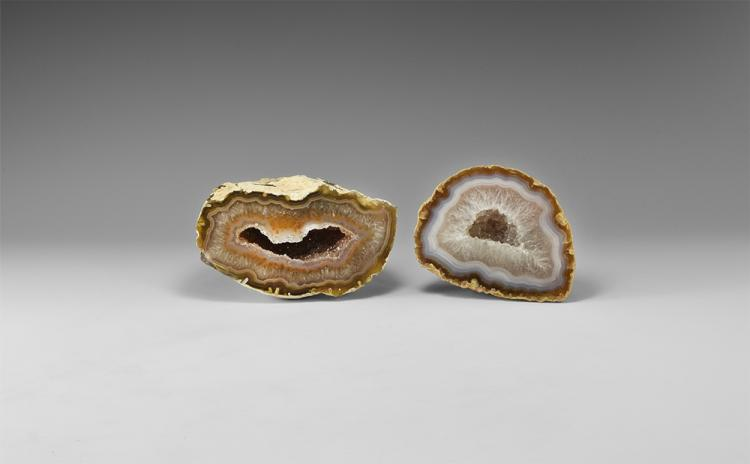 Natural History - Polished Agate Geode Group.