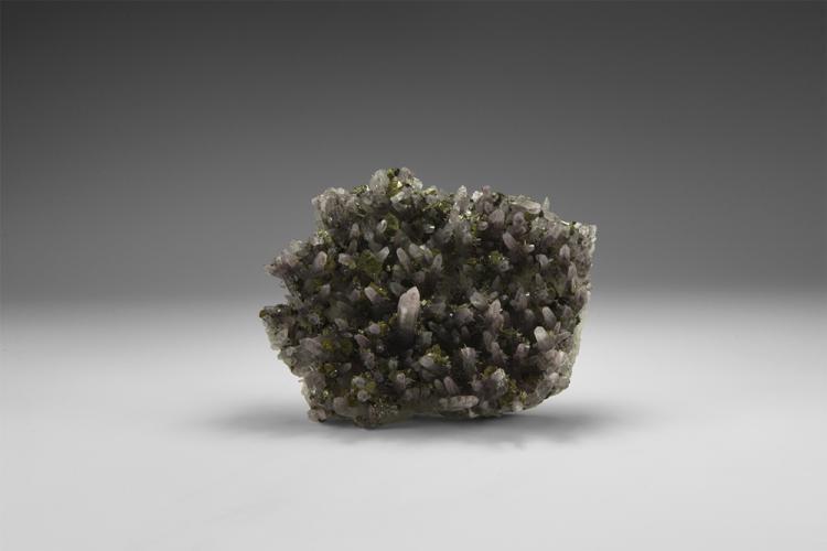 Natural History - Lavender Quartz and Pyrite Mineral Specimen.