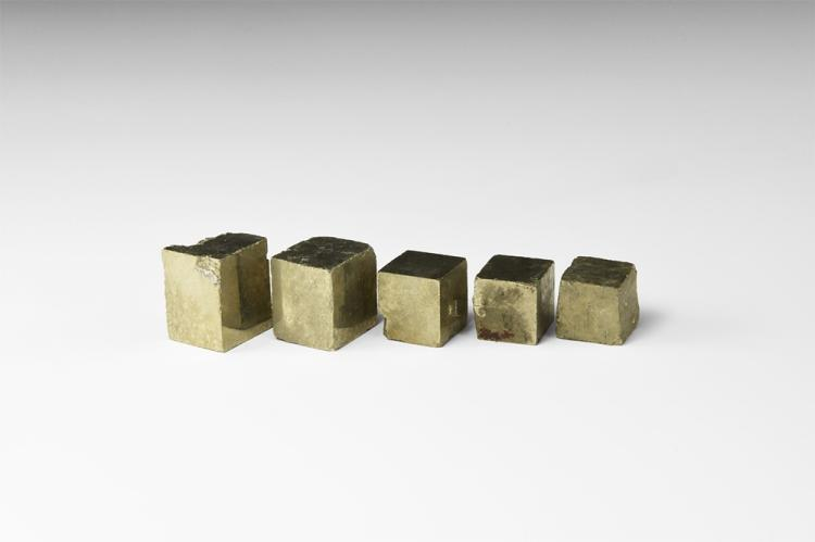 Natural History - Pyrite Cube Mineral Specimen Group.