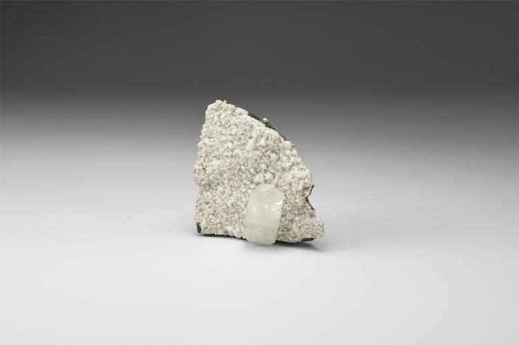 Natural History - Apophyllite Crystal on Matrix.