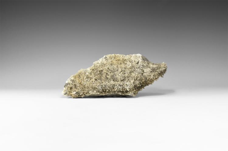 Natural History Quartz on Pyrite Mineral Specimen.