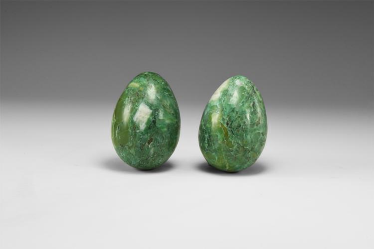 Natural History - Serpentine Egg Pair.