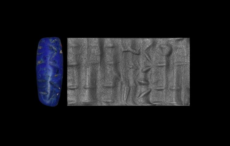 Western Asiatic Anatolian Cylinder Seal with Figure and Animals