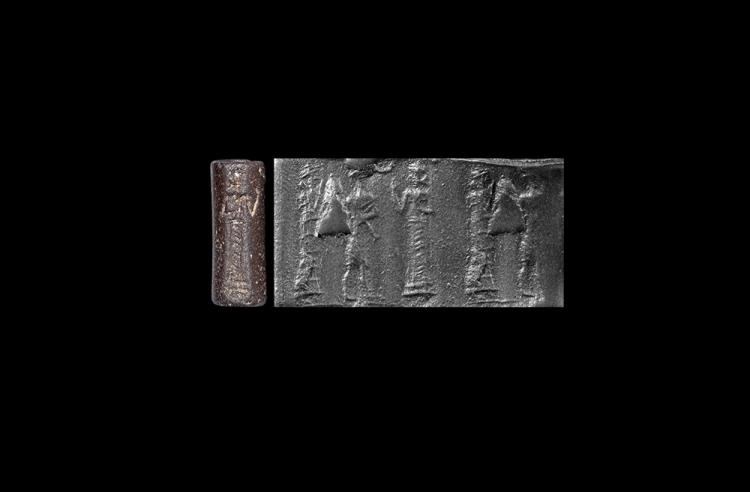 Western Asiatic Old Babylonian Cylinder Seal with Gods