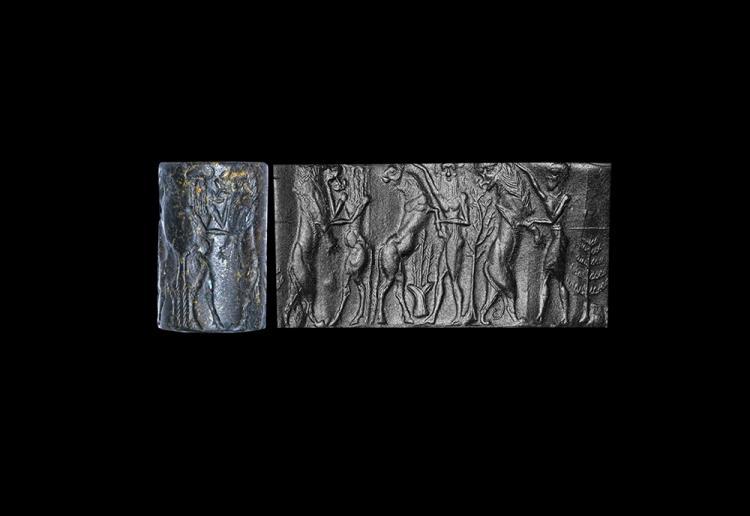 Western Asiatic Akkadian Gilgamesh Cylinder Seal