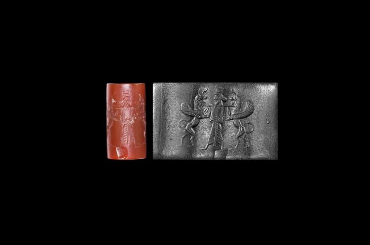 Western Asiatic Achaemenid Cylinder Seal with King
