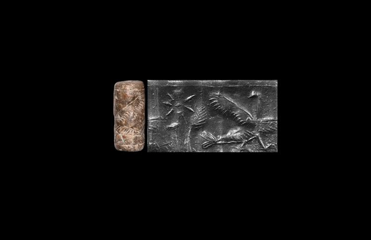 Western Asiatic Neo Assyrian Cylinder Seal with Bird