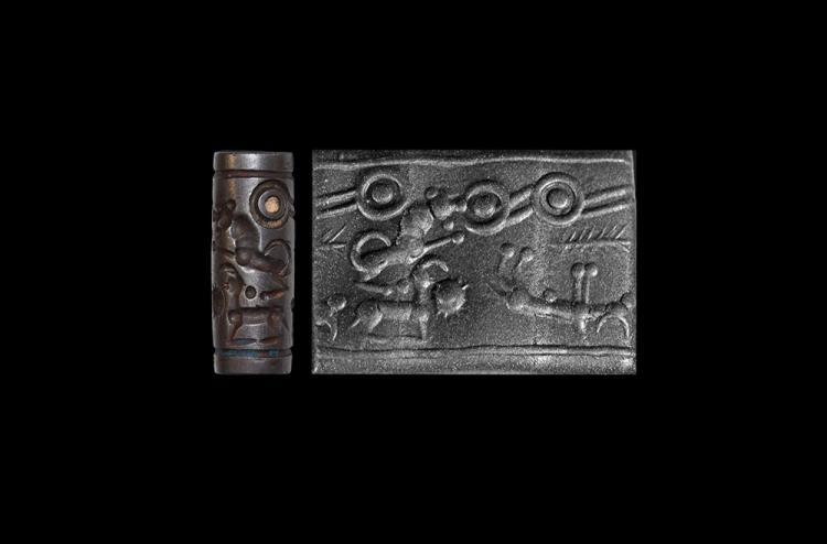 Western Asiatic Mitanni Cylinder Seal with Animals