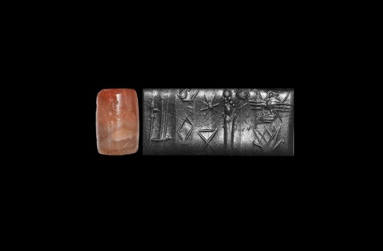 Western Asiatic Neo-Babylonian Figural Cylinder Seal
