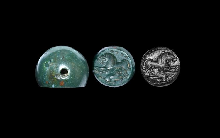 Western Asiatic Sassanian Stamp Seal with Lions