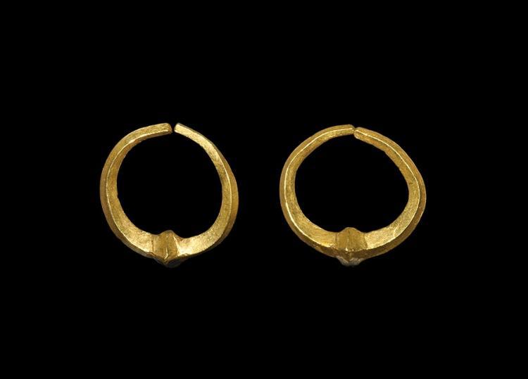 Western Asiatic Achaemenid Gold Earrings
