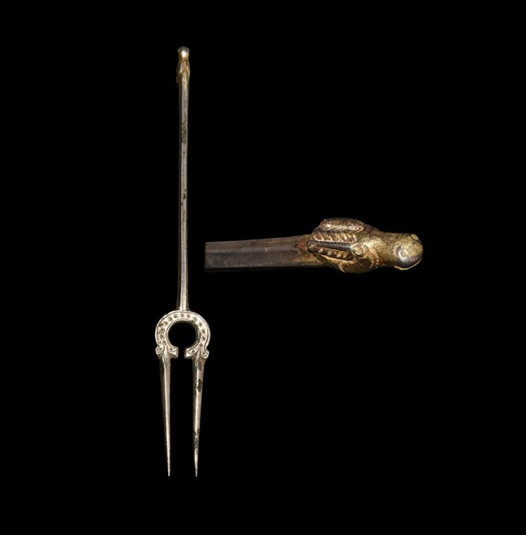 Western Asiatic Sassanian Decorated Fork