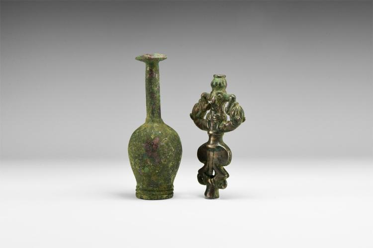 Western Asiatic Luristan Master of Animals Sceptre Finial Group