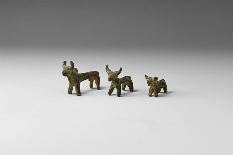 Western Asiatic Luristan Bull Statuette Group
