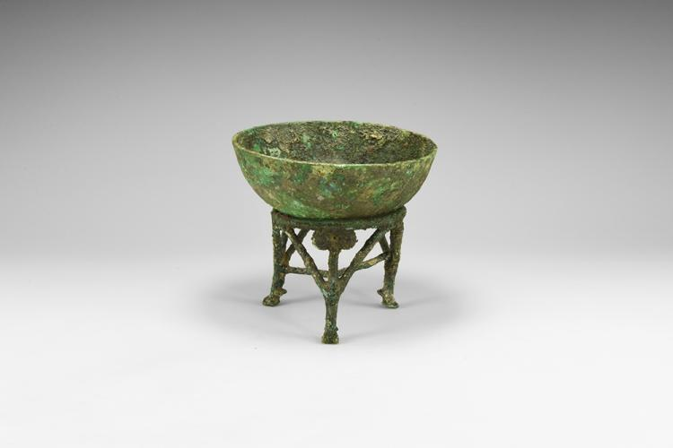 Western Asiatic Luristan Bowl with Stand