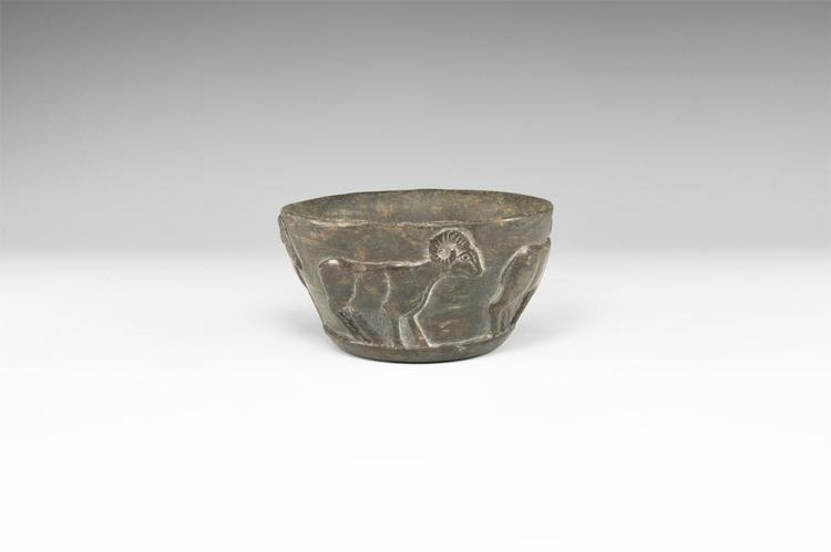 Western Asiatic Bactrian Bowl with Rams