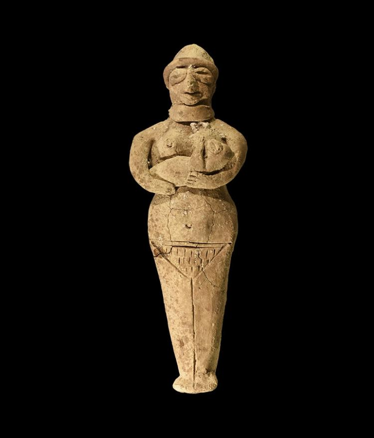 Western Asiatic Mother and Child Figurine