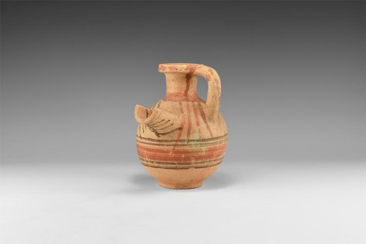 Western Asiatic Holy Land Spouted Jug with Strainer