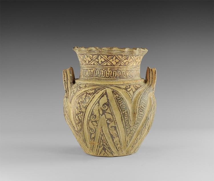 Western Asiatic Bichrome Two-Handled Jar
