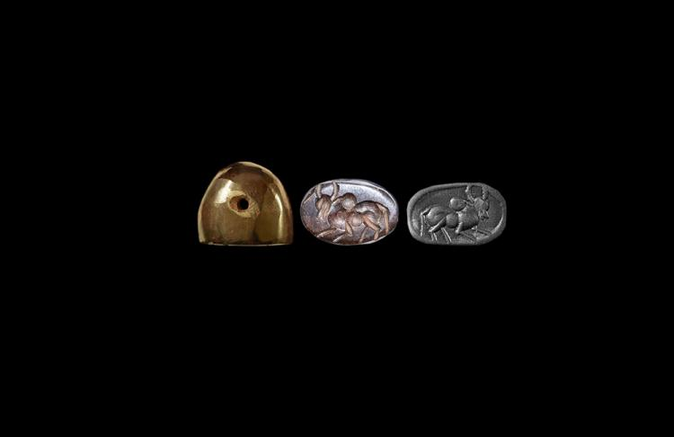 Western Asiatic Sassanian Stamp Seal with Bull