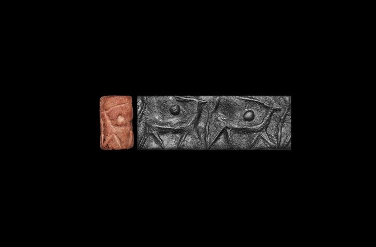 Western Asiatic Cylinder Seal with Ibexes