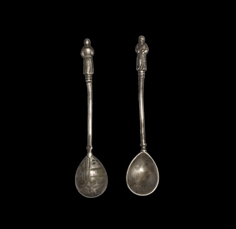 Western Asiatic Assyrian Spoon with Figural Finial