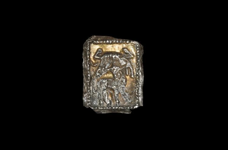 Western Asiatic Achaemenid Gilt Plaque with Centaur