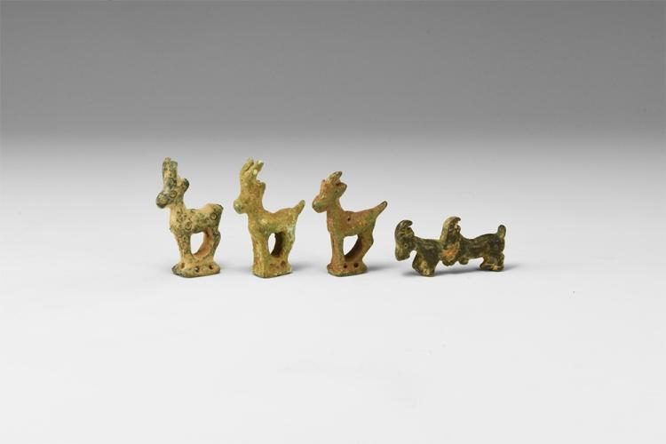 Western Asiatic Luristan Antelope Statuette Group