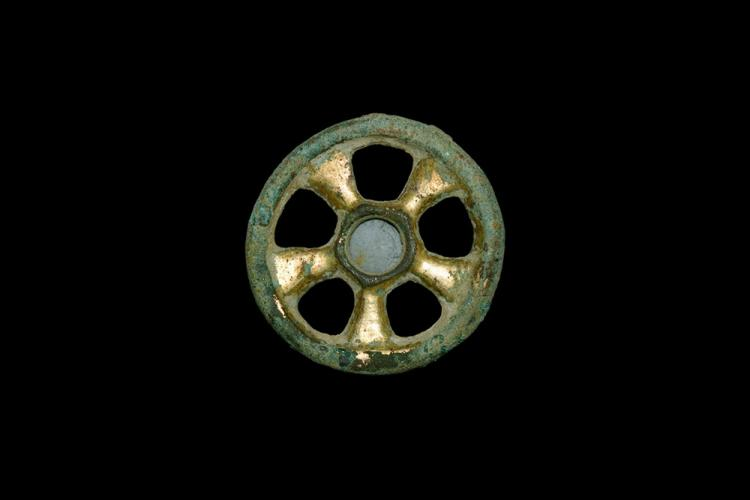 Western Asiatic Achaemenid Gilt Model Chariot Wheel