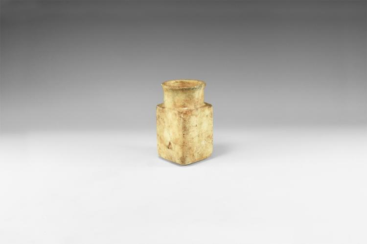 Western Asiatic Bactrian Square-Based Jar