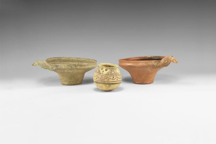 Western Asiatic Holy Land Handled Bowl Group