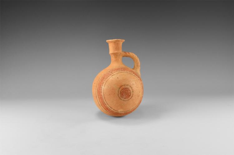 Western Asiatic Philistine Polychrome Flask