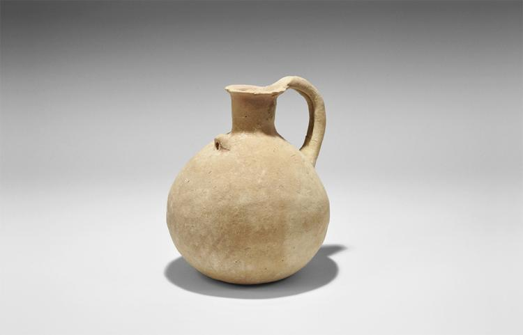 Bronze Age Holy Land Jug with Red Lattice