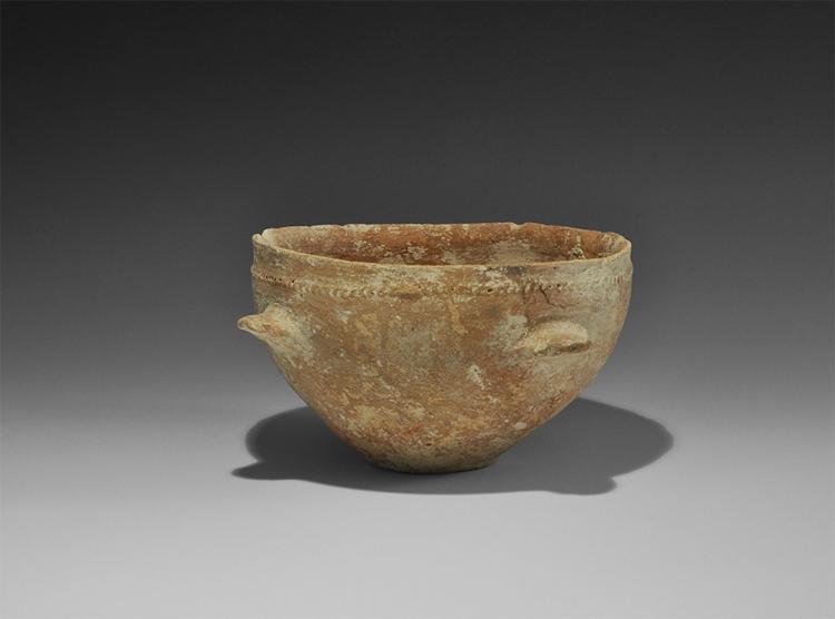 Western Asiatic Trans-Jordan Four-Handled Bowl