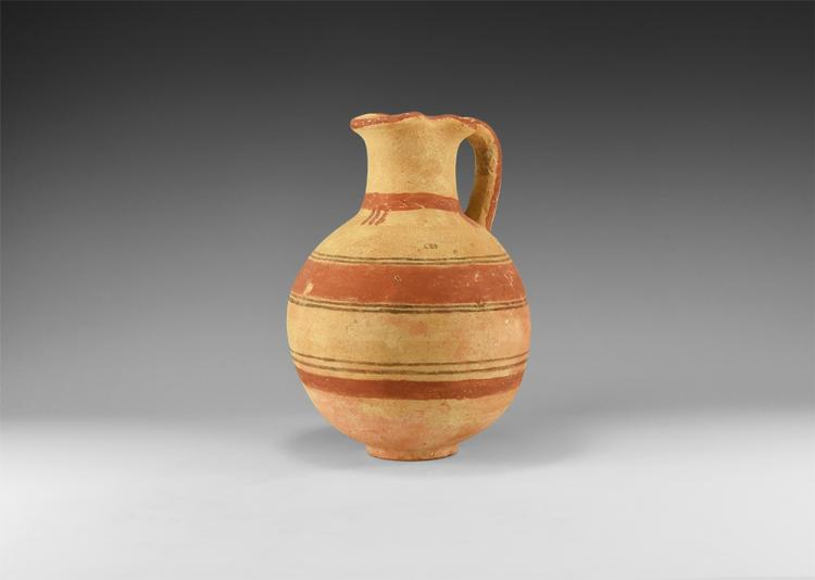Western Asiatic Polychrome Jug with Trefoil Mouth