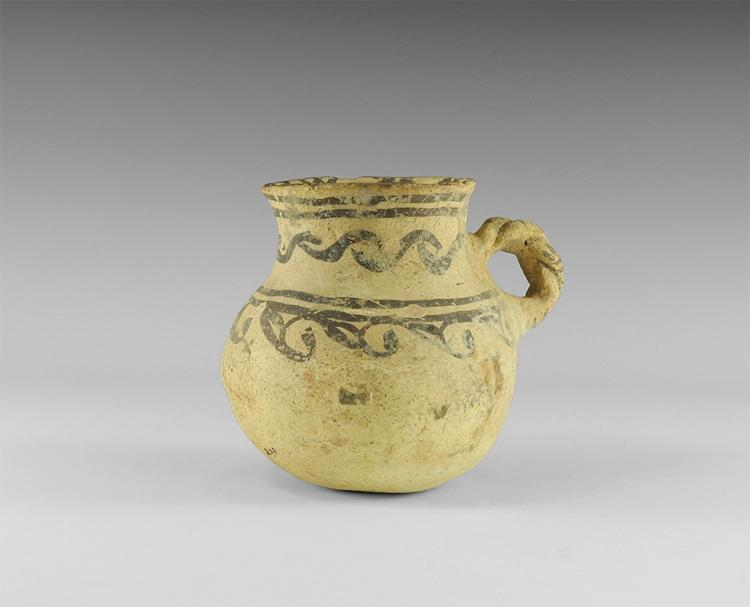 Western Asiatic Bichrome Jar with Handle
