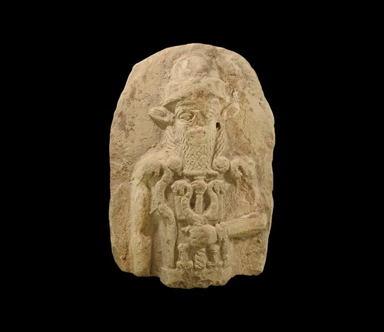 Western Asiatic Old Babylonian Plaque with God Nergal