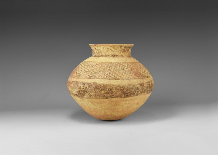 Western Asiatic Net Painted Jar