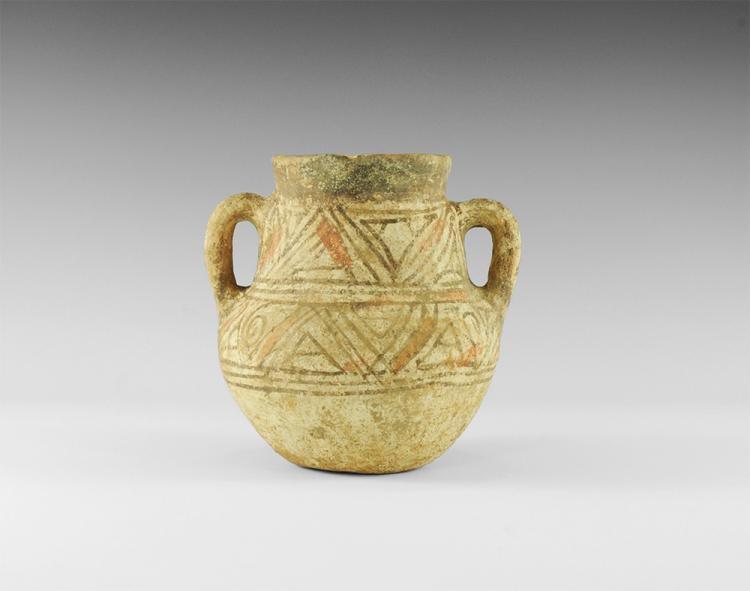 Western Asiatic Bichrome Two-Handled Jar