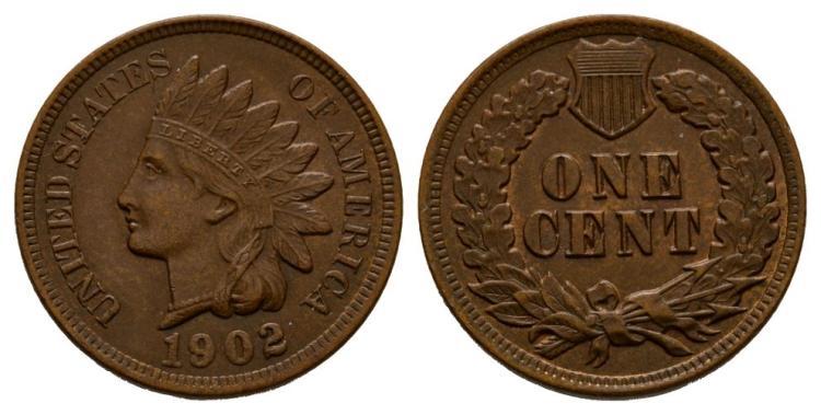 World Coins - USA - 1902 - Indian Head Cent