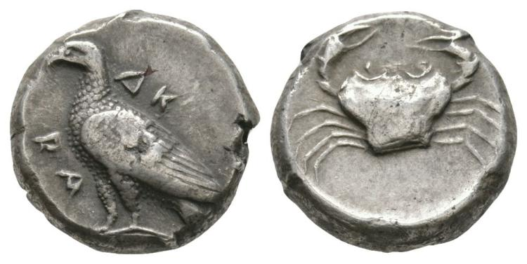 Ancient Greek Coins - Akragas - Crab Didrachm