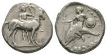 Ancient Greek Coins - Tarentum - Taras on Dolphin Stater