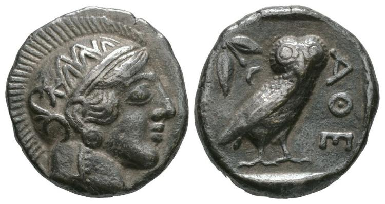 Ancient Greek Coins - Syria - Imitatative Athens Owl Tetradrachm