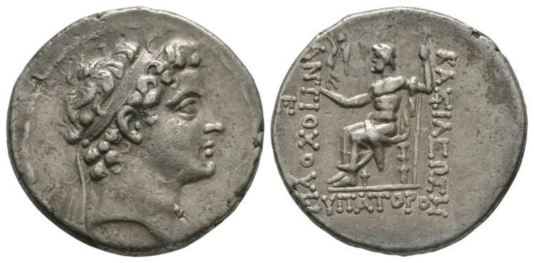 Ancient Greek Coins - Seleucid - Antiochos V Eupator - Zeus Tetradrachm