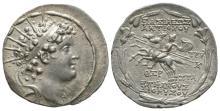 Ancient Greek Coins - Seleucid - Antiochos VI Dionysos - Dioskuri Tetradrachm