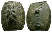 Ancient Roman Republican Coins - Aes Grave - Etruria - Hercules Club Sextans